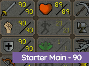 OSRS Starter main 90 Atk/Str/Def