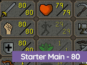 OSRS Starter Main 80 Atk/Str/Def